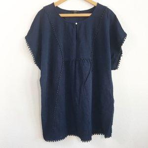 J.CREW Women's Navy Blue Dress Size L